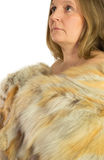 Woman model in fur isolated Stock Image
