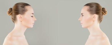 Woman modelo joven con el primer claro de la piel Foto de archivo libre de regalías