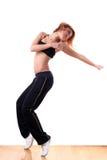 Woman modern ballet dancer stock image