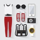 Woman modern clothing set Royalty Free Stock Photography