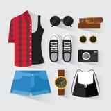 Woman modern clothing set Royalty Free Stock Photo