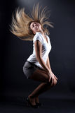 Woman modern dance Stock Photography