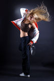 Woman modern dancer Stock Image