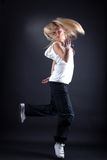 Woman modern dancer Stock Images