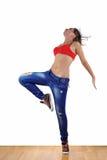 Woman modern dancer Royalty Free Stock Photos