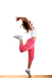 Woman modern dancer. In ballroom royalty free stock images