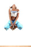 Woman modern dancer. In ballroom royalty free stock image
