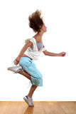 Woman modern dancer. In ballroom stock image
