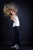 Woman modern dancer in action Stock Photography