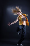 Woman modern dancer in action royalty free stock image