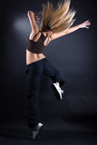 Woman modern dancer in action Stock Images