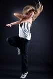 Woman modern dancer in action Royalty Free Stock Photography