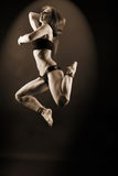 Woman modern dancer in ballroom Royalty Free Stock Photography