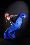 Woman modern dancer in ballroom Stock Image