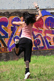 Woman modern dancer in city Royalty Free Stock Images