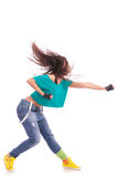Woman modern dancer punching Royalty Free Stock Photo