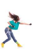 Woman modern dancer punching Royalty Free Stock Photo