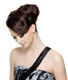 Woman with modern fashion hairstyle Royalty Free Stock Photos