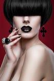 Woman with modern haircut Stock Photo