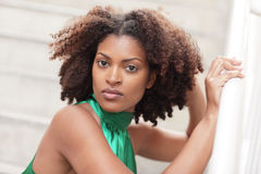 Woman with a modern hairstyle royalty free stock images