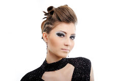 Woman with modern hairstyle Royalty Free Stock Photo