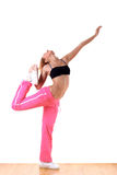 Woman modern sport ballet dancer. In ballroom stock photography