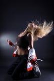 Woman modern sport dancer stock images