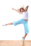 Woman modern sport dancer Royalty Free Stock Photography