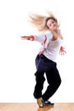 Woman modern sport dancer Stock Photos