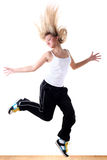 Woman modern sport dancer Stock Image