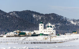 A woman monastery in Buryatia on the way to Baikal lake Royalty Free Stock Images
