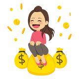 Woman With Money Stock Image
