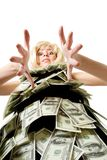 Woman and money Royalty Free Stock Photography