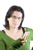 Woman money Stock Image