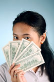 Woman with Money. Beautiful woman offering some cash Stock Photos