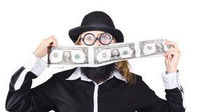 Woman with money Royalty Free Stock Photography