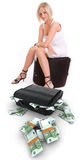 Woman and money Stock Image