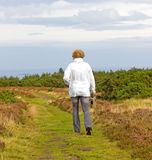 Woman in the moors Stock Photos