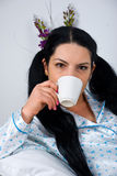 Woman morning coffee royalty free stock photos