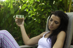 Woman with morning coffee Royalty Free Stock Image