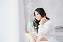 Woman in the morning Stock Photo