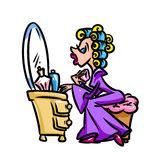 Woman morning toilet Royalty Free Stock Image