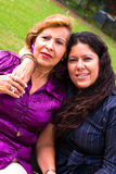 Woman and mother. Adult woman with mother love Royalty Free Stock Images