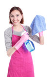 Woman mother cleaning Royalty Free Stock Image