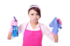 Woman mother cleaning Royalty Free Stock Images