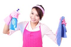Woman mother cleaning Royalty Free Stock Photography