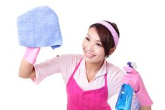 Woman mother cleaning Royalty Free Stock Photo