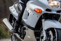 Woman on motorcycle Stock Image