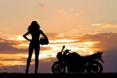Woman motorcyclist Stock Photos