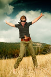 Woman and Mouintain Outdoors Stock Photos